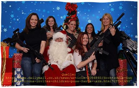 Quelle: http://www.dailymail.co.uk/news/article-2066860/Scottsdale-Gun-Club-Arizona-invites-children-pose-Santa--arm.html?ITO=1490